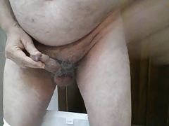 Masturbate my old cock with cumshot