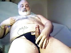 Daddy Bear stroking it
