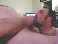 Sucking A Fat Guy's Cock