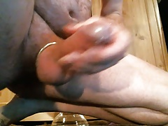 jerkoff with a cockring