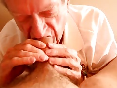 Grampa deepthroating