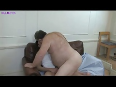 Fat Bear daddy get fuck from a young gay