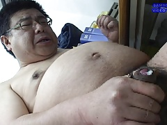Japanese Daddy Jacking Off